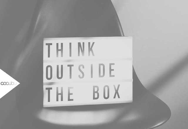 Content Marketing Inhalte Letter Bilder Think outside the box