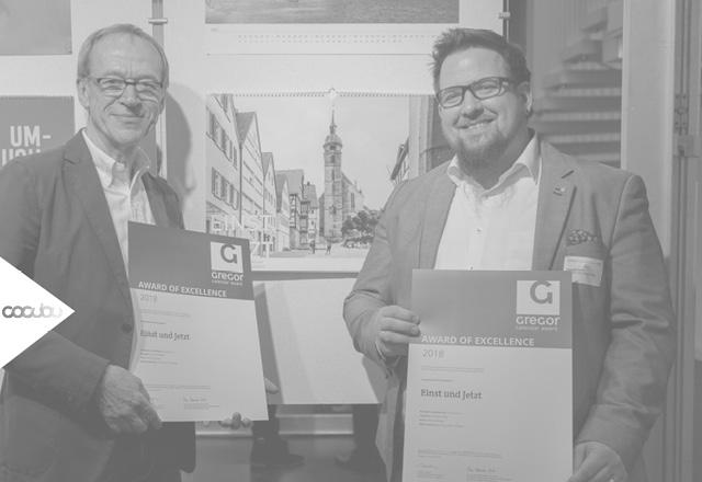 Auszeichnung Attila Melzer und Grafik Designer Kornelije Casni Award of Exelence 2018