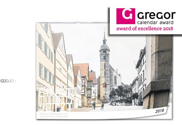 Gregor calendar award 2018 exelence
